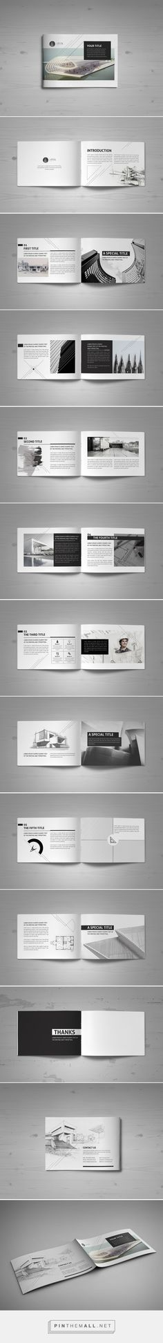Minimal Modern Black & White Architecture Brochure by Mohammed Al Gharabli: - Graphic Files Layout Design, Design De Configuration, Design Retro, Graphisches Design, Print Layout, Graphic Design, Portfolio D'architecture, Mise En Page Portfolio, Branding Portfolio