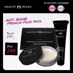 ANTI SHINE PREMIUM FACE PACK fra Makeupmekka. Om denne nettbutikken: http://nettbutikknytt.no/makeupmekka-no/