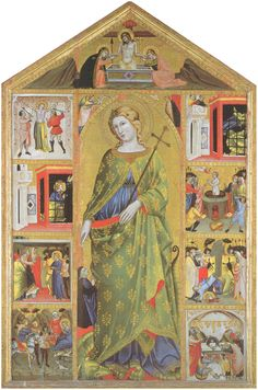 "maertyrer: "" Turino Vanni Saint Margaret and Scenes from her Life c. 1400 """