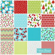 Jingle Christmas Fabric by Ann Kelle and Fabric Shoppe Etsy Fabric- Bundle of 16 fabrics. You Choose the Cut. Free Shipping Available