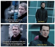 """I don't do that."" Sherlock/Star Trek"