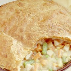 "When you keep puff pastry sheets in your freezer, it is easy to turn leftover chicken into a mouthwatering ""new-fashioned"" and delectable pot pie. Comments"