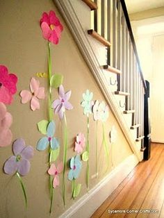 Love this idea as a craft with kids. #flowers #stickynotes # spring