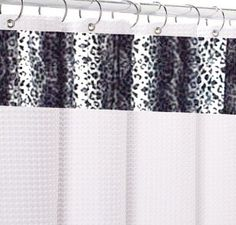 Snow Leopard Spa Shower Curtain.  Clean White Waffle Weave Shower Curtain. $149.00 SALE $104.00