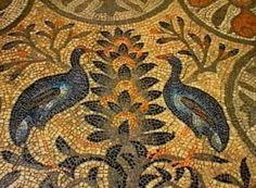 Aquileia, Basilica di Santa Maria Assunta, Cripta degli Scavi, mosaico teodoriano, particolare