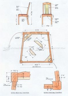 #665 Dining Chair Plans - Furniture Plans and Projects