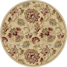 Alise Flora Ivory and Brown Floral Area Rug ($90) ❤ liked on Polyvore featuring home, rugs, ivory, woven rug, cream colored area rugs, ivory area rug, floral area rugs and brown rug