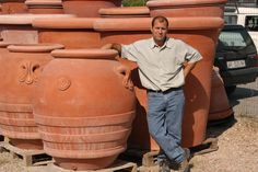 Oversized Pots : Large Terra Cotta Planters | Tuscan Imports. I need a bigger potting table...                                                                                                                                                                                 More