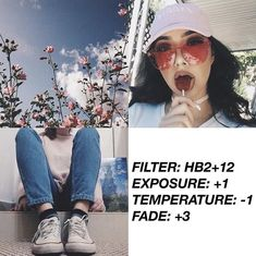 VSCO Cam Filter Settings for Instagram Photos | Filter HB2 | Blueish, Faded Photos