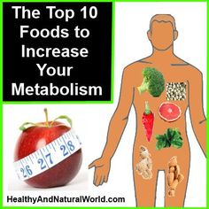 Increase your metabolism with these foods.