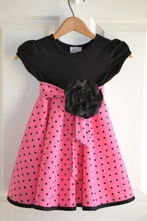 DIY Baby Dress Tutorial ---- No pattern, she just copied one of ...