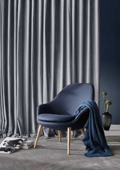 Adelaide Blue Fabric Armchair | Minimalist Furniture Designs | BoConcept Sydney