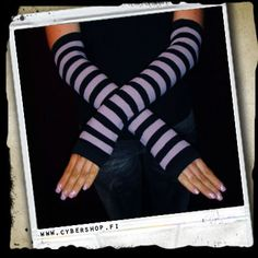 ArmWarmers -Stripes -Black/purple 6,00€