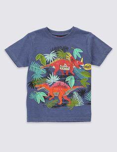 Dinosaur Print T-Shirt (1-7 Years)