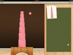 Pink Tower - A Montessori Sensorial Exercise
