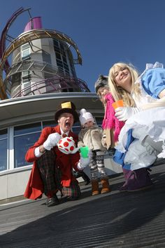 Alice in Wonderland-themed entertainment marks the Beacon opening.