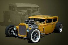 """1931 Ford Sedan Rat Rod"""" Posters by TeeMack   Redbubble"""
