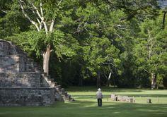 Grande place du parc archéologique de Copan, Honduras  © Diego Lezama