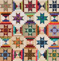 Art Threads: Friday Inspiration - Ohio Star Quilts Some inspiring different takes on the Ohio Star pattern!