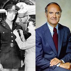 George McGovern-Army Air Force-WW2-2nd Lt. And B-24 Liberator pilot. ( South Dakota Senator and presidential nominee in 1972)