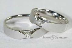 Menghadirkan cincin kawin model mahveen sepasang dengan tampilan simple nan…
