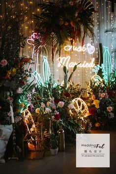 18 Neon Wedding Signs that Make our Hearts Glow Up Wedding Shoot, Wedding Themes, Wedding Signs, Boho Wedding, Floral Wedding, Dream Wedding, Wedding Decorations, Havana Theme Party, Just Married