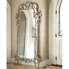 Jessica McClintock The Boutique Decorative Floor Mirror (Silver Veil) Luxury Home Decor, Luxury Homes, Jessica Mcclintock, Vintage Mirrors, Beautiful Mirrors, Through The Looking Glass, Venetian Mirrors, Home And Deco, Floor Decor