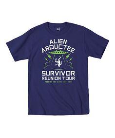 Love this Navy 'Alien Abductee Survivor Tour' Tee on #zulily! #zulilyfinds