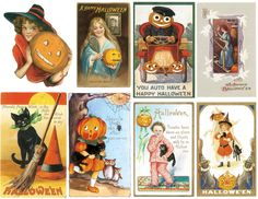 Magic Moonlight Free Images: Is to early for Halloween? Free collage images for You!