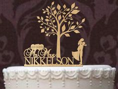 Custom wedding cake topper  Rustic Wedding by caketoppersshop667