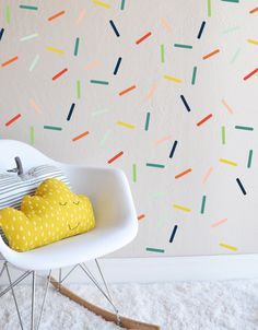 Egayer un coin (DIY ): couloir, toilettes, entrée? Random Colorful Sprinkles Wall Decal par TheLovelyWall sur Etsy