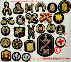 From the Royal Canadian Mounted Police - some RCMP insignia. Here is one pic showing several appointment or specialty RCMP badges. While these are cloth or bullion-type items, they are generally referred to as badges instead of patches. Law Enforcement, One Pic, Police Badges, Patches, Type, Image, Police