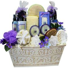 Art of Appreciation Gift Baskets Lavender Renewal Spa Bath and Body Gift Set Large -- Click image for more details.