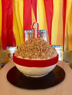Cheerios Themed First Birthday Party Smash Cake