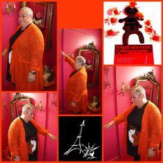 orange, mandarine, enfin des tons de saisons pour cette tenue FA concept la mode parisienne pour les rondes qui aiment la mode du 44 au 58 chez PARIS NEW YORK à SAINT-LO