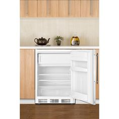 """SUMMIT's FF7BI Series features built-in undercounter all-refrigerators designed to provide reliable cooling in commercial settings.  Sized with a 24"""" footprint, the FF7BI models offer a full 5.5 cu.ft. of storage capacity inside the automatic defrost interior. Adjustable glass shelves offer flexible storage, while the flat door liner allows the unit to accommodate larger trays (up to 19 A"""" x 16""""). Our unique """"hidden"""" evaporator is set behind the wall to create a seamless, easy-to-clean…"""