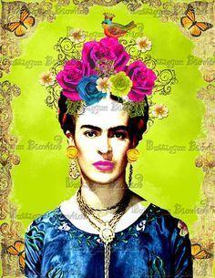 Frida Kahlo by BubblegumBlowfish Diego Rivera, Frida E Diego, Frida Art, Atelier D Art, Mexican Artists, Medium Art, Love Art, Mixed Media Art, Digital Art