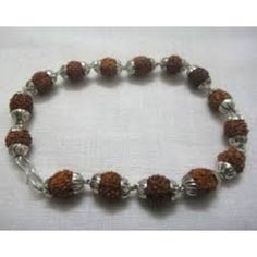 5 Mukhi Rudraksh Silvar Cap Bracelet