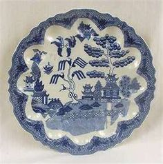 Blue Willow egg plate - something I actually don't have.