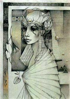 """""""isis"""" by Susan Seddon Boulet, 1983 Isis Goddess, Goddess Art, Egyptian Goddess, Illustrations, Illustration Art, Tattoo Deus, Art Visionnaire, Sacred Feminine, Divine Feminine"""
