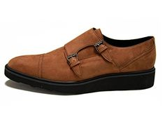 The Innovator is a double-monk buckle shoe made in Portugal under fair labor conditions in fine Italian microfiber with superior microsuede lining. Pa ...