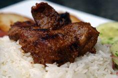 Carne colorada (beef braised in beer, achiote & cumin)