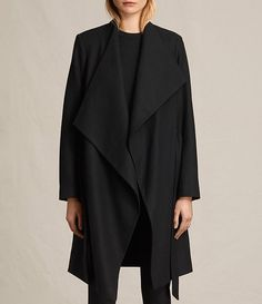 Womens Lora Coat (Black) - product_image_alt_text_5