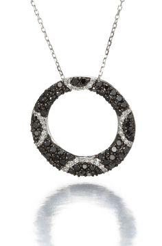 black diamond pendant.