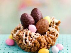 "Easter nests way ""rose of sands"" Easter Recipes, Rice Recipes, Dog Food Recipes, Easter Food, Easter Ideas, Easter Eggs, Rice Krispie Treats, Rice Krispies, Blog"