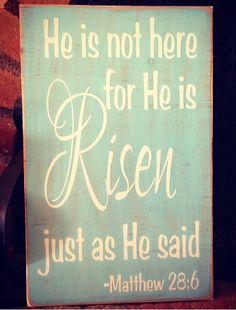 He is Risen Easter Holiday  Vinyl Lettering Sign Kids