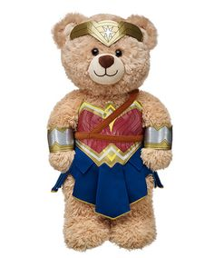 Wonder Woman costume from Build-A-Bear Workshop. Your teddy bear can cosplay as your favorite DC/Marvel superheroes, including Batman, Superman, and the Avengers. Superman Wonder Woman, Costume Batman, Marvel Dc, Red And Blue Dress, Custom Teddy Bear, Wonder Woman Party, Dc Comics, Build A Bear, Batgirl