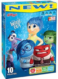 Kellogg's Disney/Pixar Inside Out Fruit Flavored Snacks, 10 count, 8 oz Inside Out Party Ideas, Inside Out Cakes, Aaliyah Birthday, Disney Inside Out, Fruits For Kids, Kids Fruit, 4th Birthday Parties, Birthday Bash, Birthday Ideas