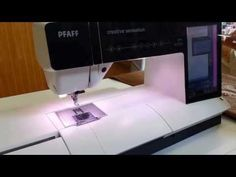 How to Easily Install the Foot on a Pfaff Embroidery Machine Sewing Tools, Sewing Tutorials, Sewing Patterns, Video Tutorials, Sewing Ideas, Pfaff Creative, Creative Icon, Chain Stitch, Couture