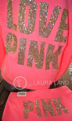 one of the most beautiful sets I have ever seen from PINK!      A Must Have!!!!! M~VICTORIA'S SECRET PINK BLING HOODIE & FLARE SWEATPANTS SET OUTFIT CORAL~NWT